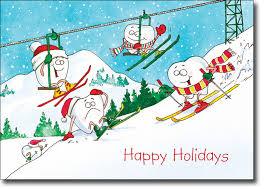 ski cartoon