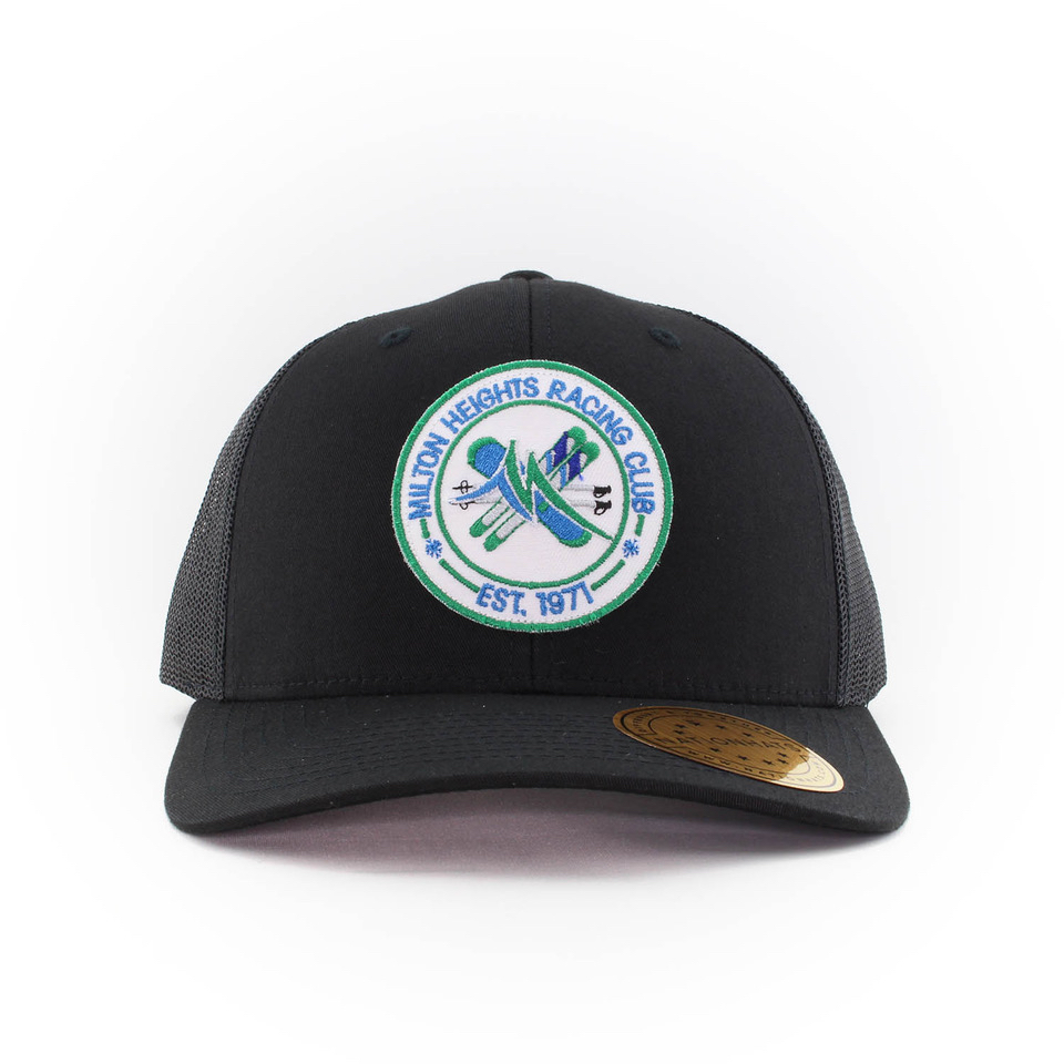 16747-6606-Retrot-Trucker-Snapback-Custom-Black-Patch-Milton-RacingClub-Front