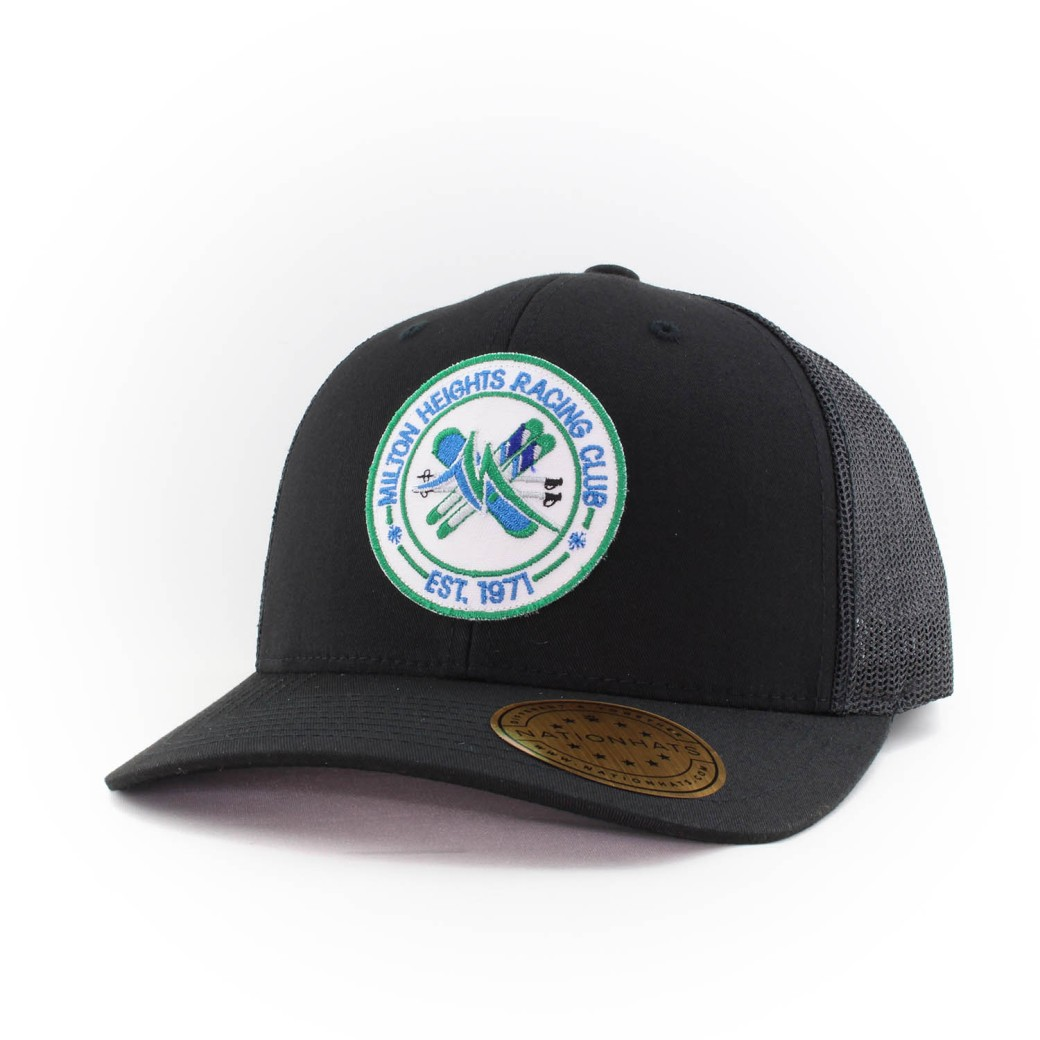 16747-6606-Retrot-Trucker-Snapback-Custom-Black-Patch-Milton-RacingClub-Iso